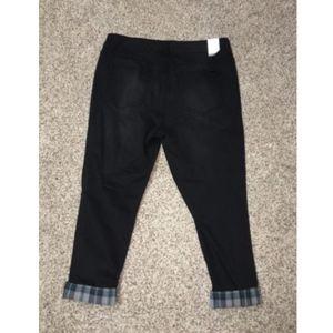 Seven7 Melissa McCarthy Jeans Skinny Black Jeans Plus Size 24W Inseam 26 NWT